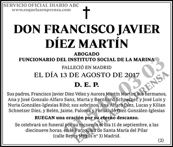 Francisco Javier Díez Martín